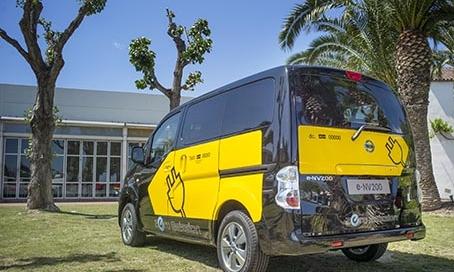 Eltaxibil från Nissan i BCN