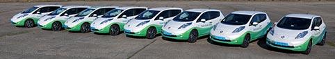 Taxi Electric kör redan en flotta av eldrivna Nissan Leaf.