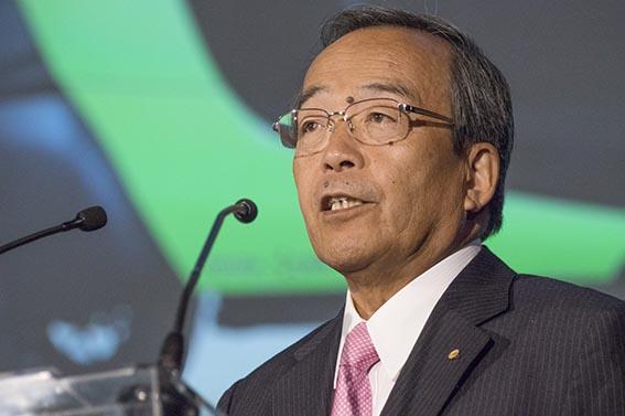Takeshi Uchiyamada, styrelseordförande i Toyota Motor Corporation