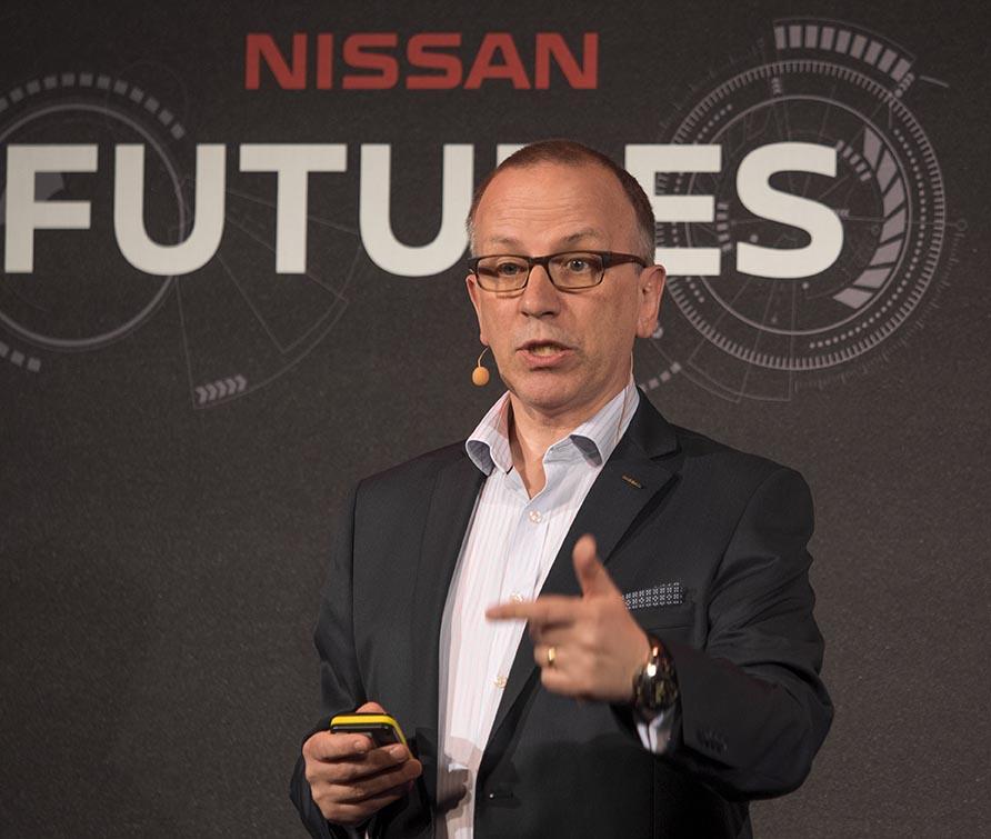 Nissan Europas styrelseordförande Paul Wilcox