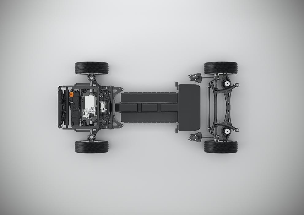 Så här tänker sig Volvo att använda sin CMA-plattform  till den kommande elbilen.