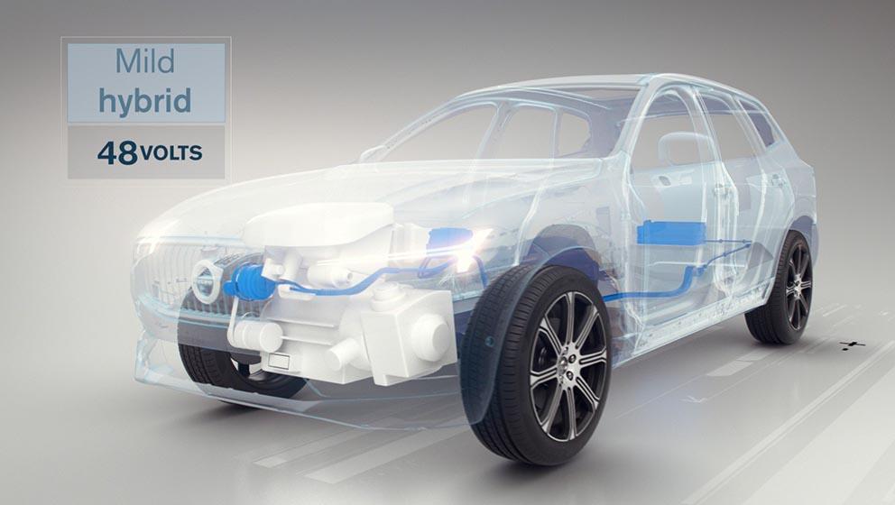 Volvos mild hybrid 48 volt