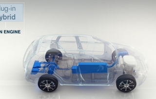 Still from animation - Plug-in hybrid, Twin Engine