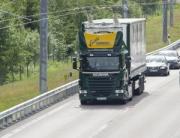 Elväg Sandviken lastbil gods transport godstransport semitrailer kontaktledning fossilfri klimat el hybrid E16