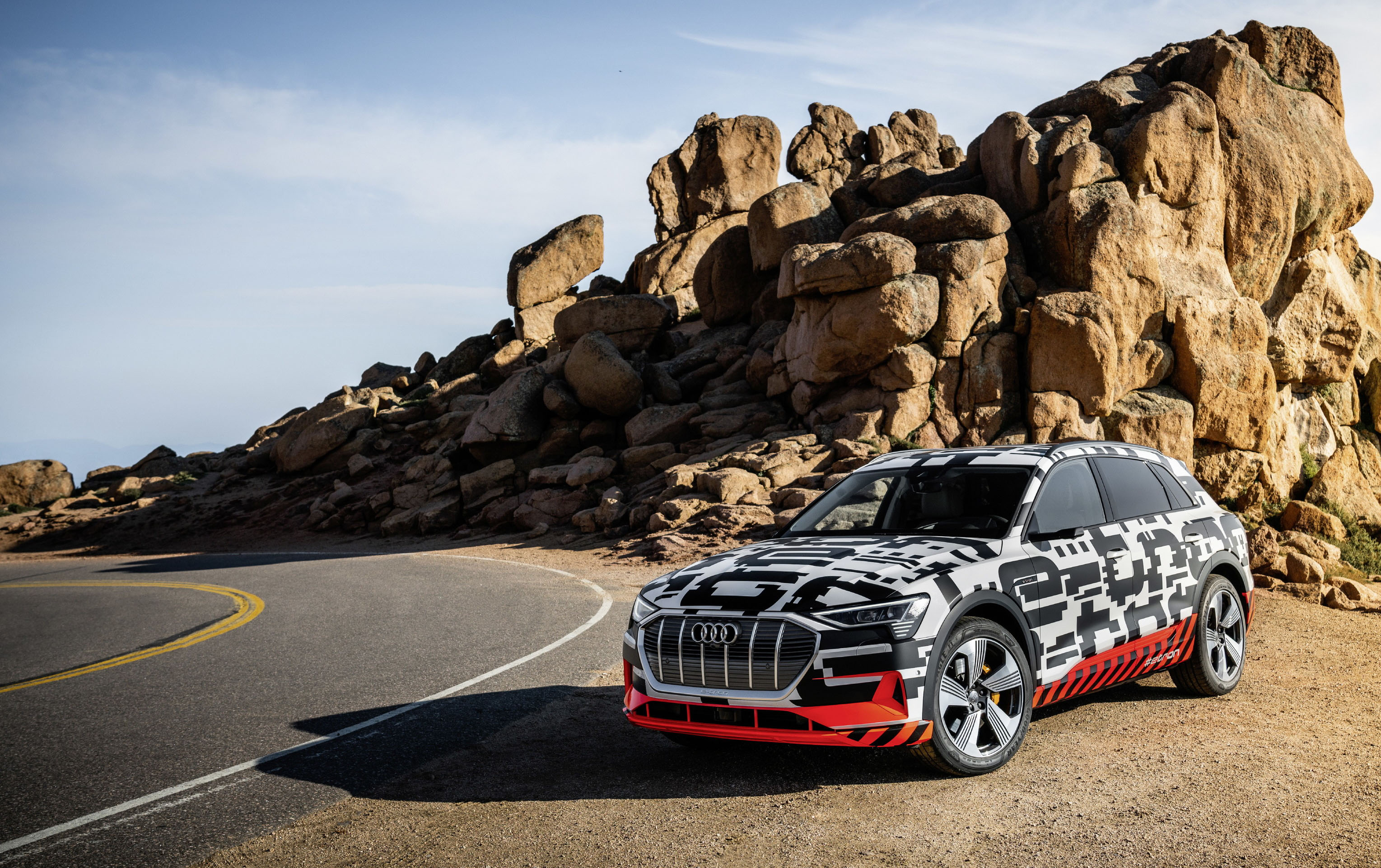 The Audi e-tron prototype on recuperation test at Pikes Peak
