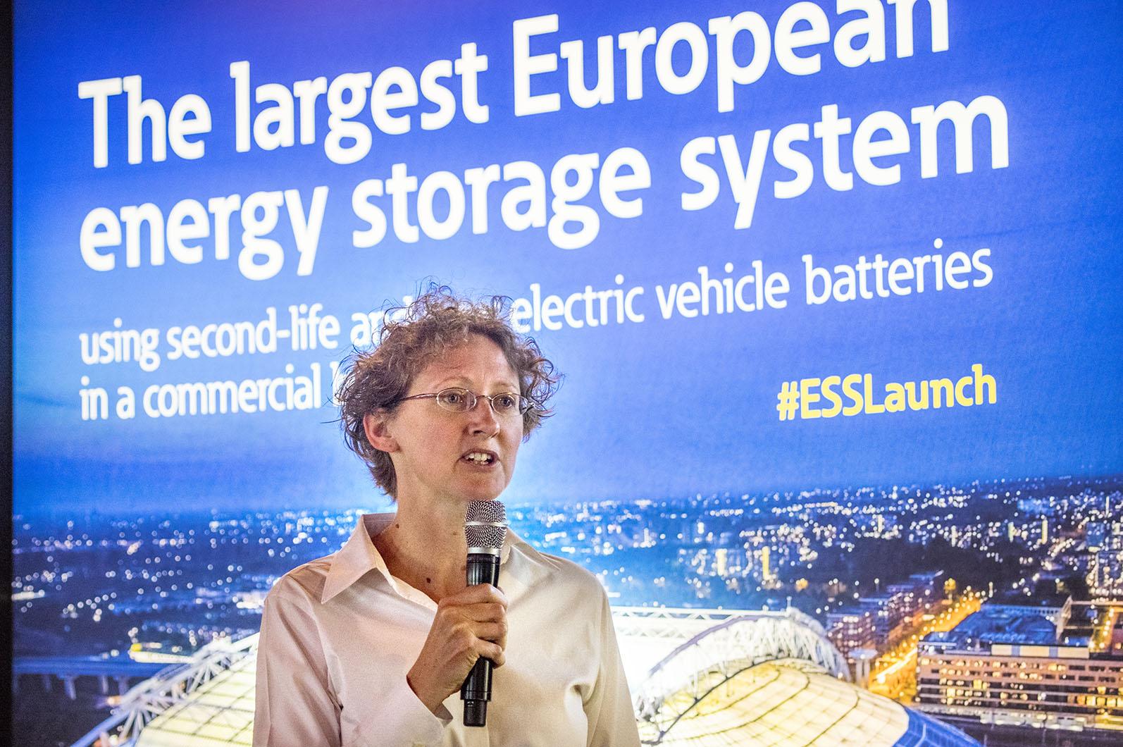 Interreg, EU:s regionala utvecklingsfond,som stödjer projektet var representerade av Sara Holsen.