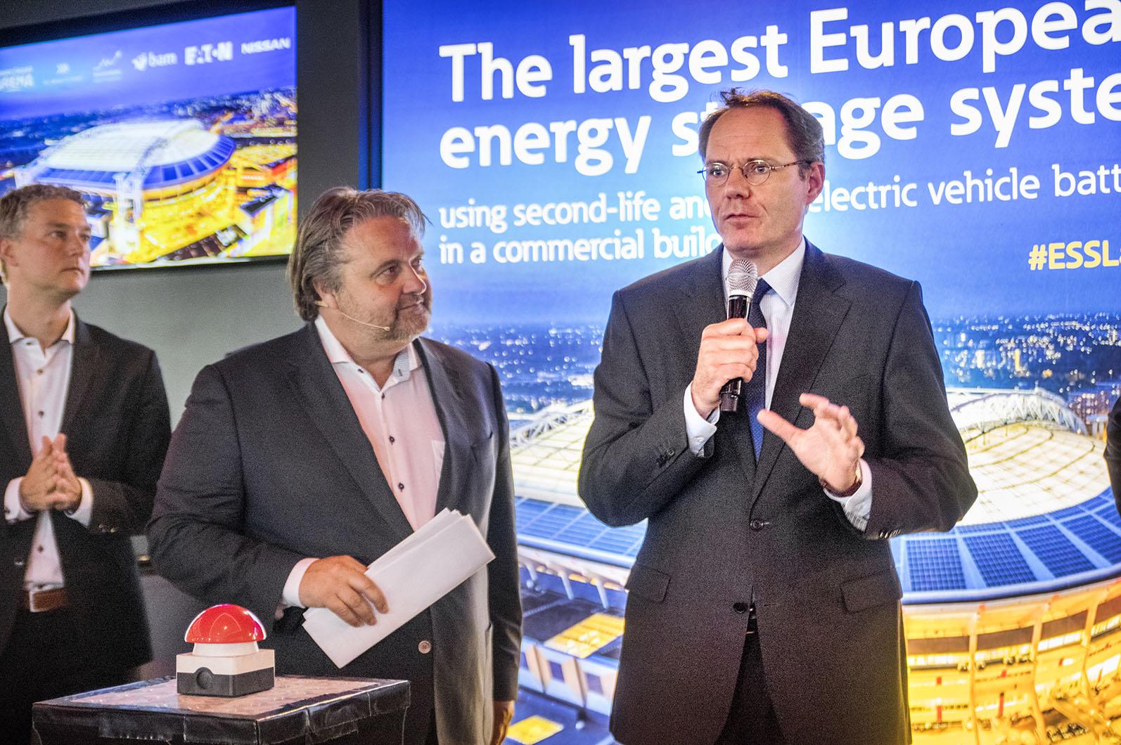 Amsterdams vice borgmästare Udo Kock redo att trycka på startknappen för ESS i Amsterdam.