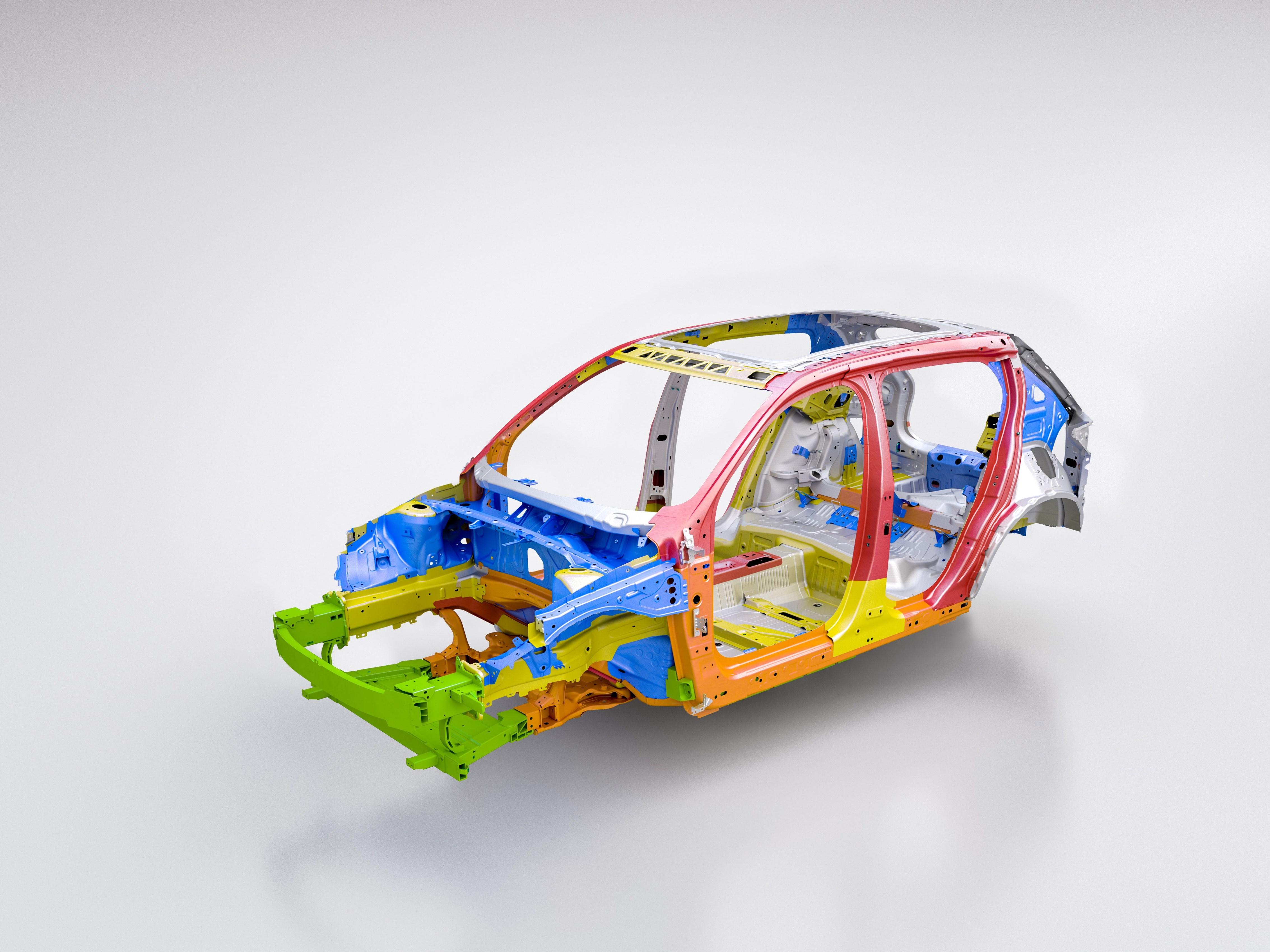 Volvos krocksäkra karosstruktur går igen även i eldrivna XC40.