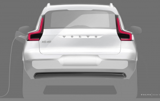 Volvo XC40 BEV design sketch